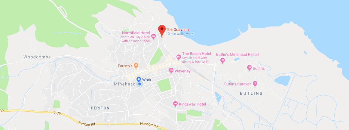 The Quay Inn Minehead Location
